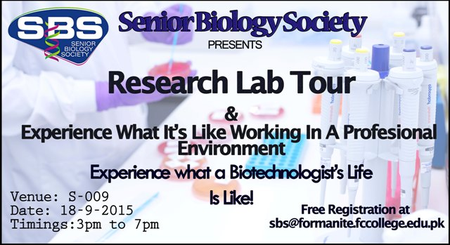 Research Lab Tours for Biological Sciences and Biotechnology