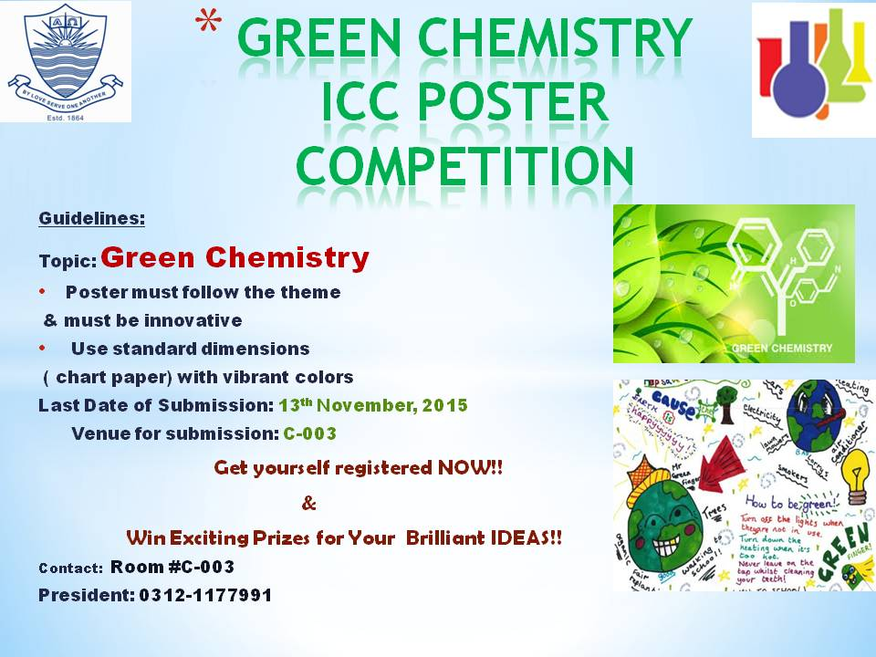ICC to hold Green Chemistry Poster Competition | FCC Societies