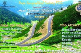 Register for Dean Geographical Society's trip to Azad Kashmir