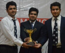 Ahmad Gulzar stands first at LGS debating competition