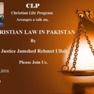 CLP to arrange talk on Christian Law in Pakistan