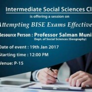 ISSC to hold a session on Attempting BISE Exams Effectively