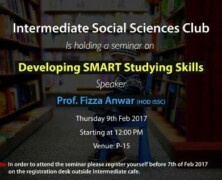 ISSC to hold a seminar on Developing SMART Studying Skills