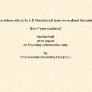 ICC presents videos related to 3-D Chemistry