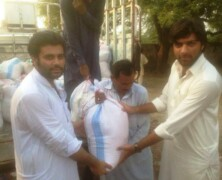 FPSS distributes food packages among flood affected people