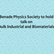 BPS to hold talk on Bulk Industrial and Biomaterials
