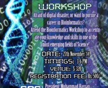 SBS to hold workshop on Bioinformatics