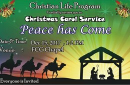 CLP to hold Christmas Carol Service