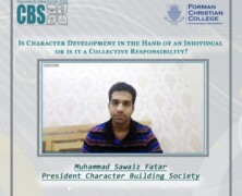CBS Organizes Discussion on Is Character Development in the hand of an individual or is it a Collective Responsibility?