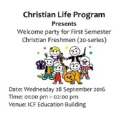 CLP to organize Welcome Party for Christian Baccalaureate Freshmen