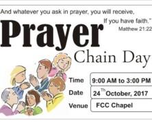 CLP to arrange a Prayer Chain Day