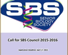 Register to be a part of SBS' Council 2015-16