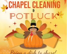 CLP Organizes Chapel Cleaning and Potluck