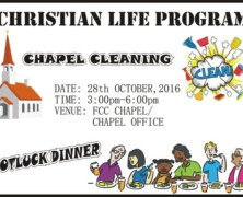 CLP to hold Chapel Cleaning