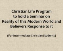 CLP to arrange a seminar for Intermediate Christian Students
