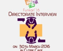 Art Junction to hold Directorate Interviews for Funkari '16
