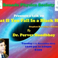 Dr Hoodbhoy to talk about 'What If You Fall in a Black Hole? Stephen Hawking's Dilemma