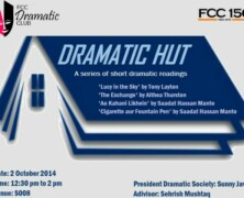 FDC presents Dramatic Hut series of short dramatic readings