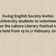 Inviting volunteers for Lahore Literary Festival 2016