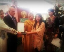 Irtaza Basit stands third in the poster competition