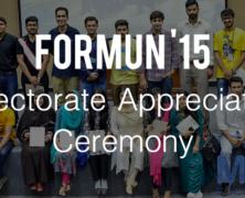 FORMUN'15 Directorate Appreciation Ceremony