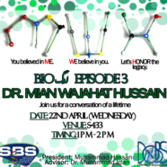 SBS to host Dr Wajahat Hussain for Bio  لوگ