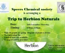 Register for SCS trip to Herbion Naturals
