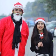 IAS & EWC Students Dressed as Santa Spread Christmas Cheer