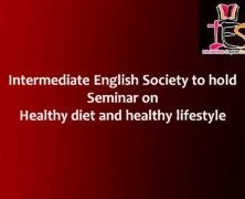 IES to hold Seminar on Healthy diet and healthy lifestyle