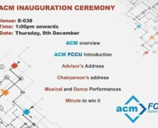 Inauguration Ceremony of ACM FCCU Chapter