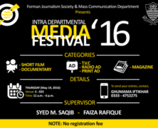 FJS to hold Intra-Departmental Media Festival 2016