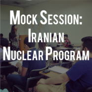 3 Day Mock Session: Iranian Nuclear Program