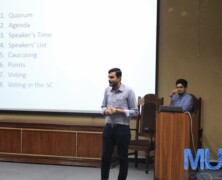 Muazzam Khan Lodhi gives introductory session on MUNS