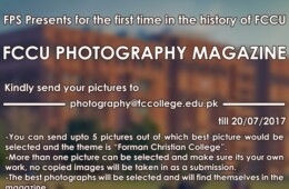 Send in your photographs for FCCU's photography magazine