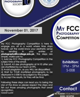 FPS Invites Entries for My FCC Photography Competition