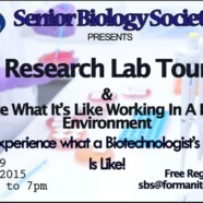 Research Lab Tours for Biological Sciences and Biotechnology Freshmen