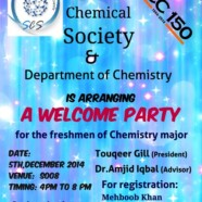 Join SCS for Welcome Party for Chemistry majors