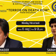 FJS to hold a panel discussion on Terror on Death Row