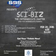 SBS to hold Sci-Biz: The Intermediate Chapter