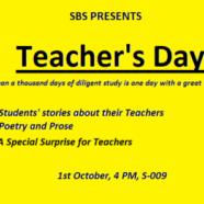 Join SBS in honoring your teachers