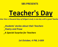 Join SBS in honoring your teachers