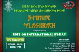 UMS to organize a 5-Minute Flashback