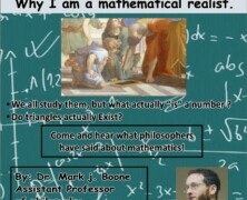 Join UMS for Dr Boone's talk on 'Why I'm a Mathematics Realist'