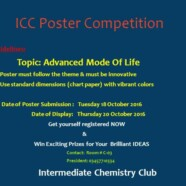 ICC to hold Poster Competition for Intermediate Students