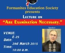 FES to hold lecture on 'Are Examination Necessary'