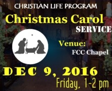 CLP to hold Carol Service