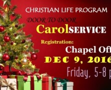 CLP invites students for Door-to-Door Caroling