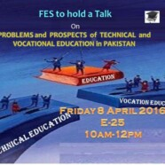 FES to hold a talk on 'Problems and Prospects of Technical and Vocational Education in Pakistan'
