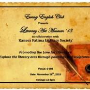 Ewing English Club to organize Literature Art Exhibition