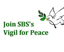 Join SBS's Vigil for Peace